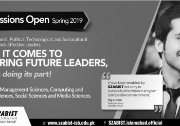 SZABIST Institute Of Technology Islamabad Spring Admission 2019