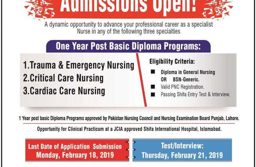 Shifa Tameer-E-Millat University Islamabad Admission 2019