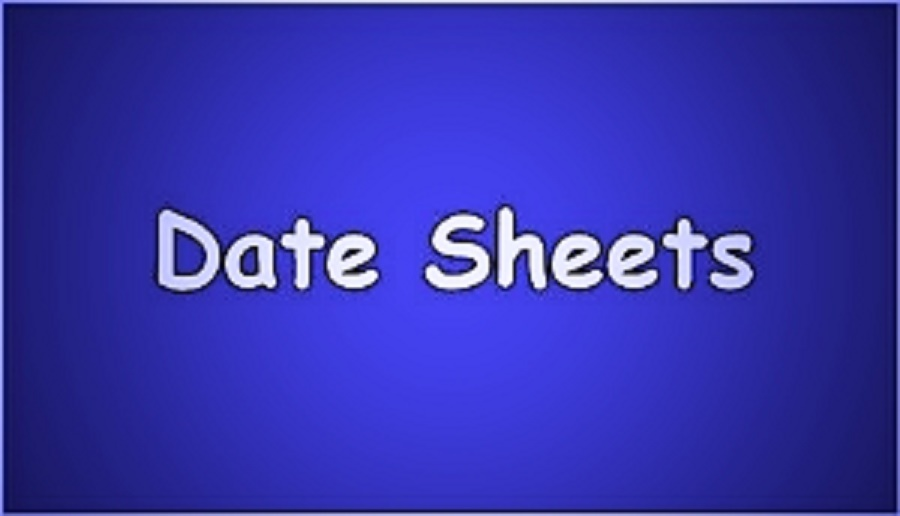 Sindh Board Matric Date Sheet 2019 9th, 10th Class