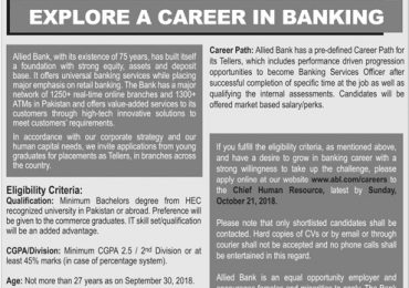 Allied Bank Limited Jobs 2018 Apply Online