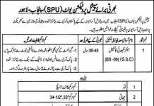 SPU Punjab Police Senior Security Constable Jobs 2018 Application Form
