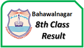 Bahawalnagar 8th Class Result 2018 Board Online Check