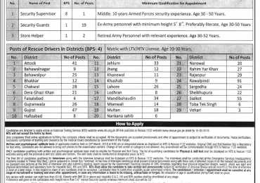 Rescue 1122 Jobs March 2018 Apply Online