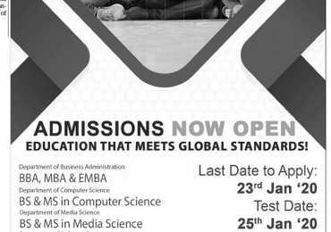 Ilma University Karachi Admission 2020