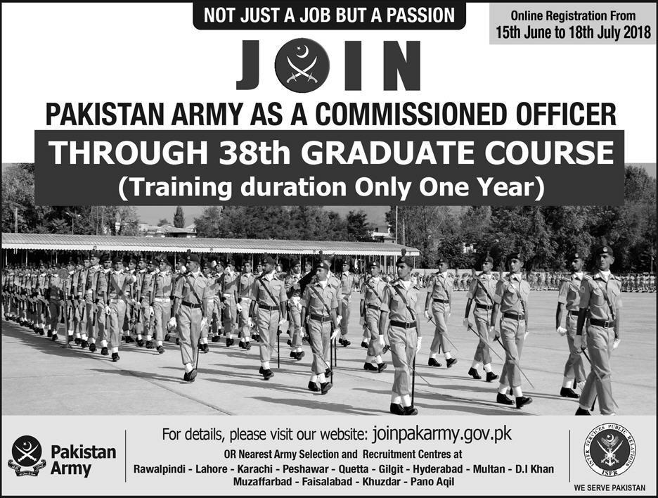 Join Pak Army Graduate Course 2018 Online Registration Criteria