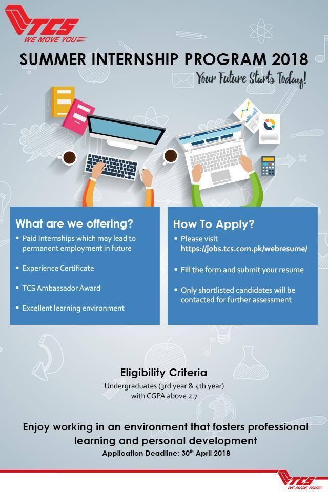 TCS Summer Internship 2018 Online Application Form Eligibility