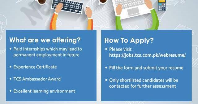 TCS Summer Internship 2019 Online Application Form Eligibility
