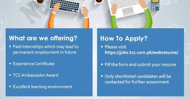 TCS Summer Internship 2019 Online Application Form Eligibility