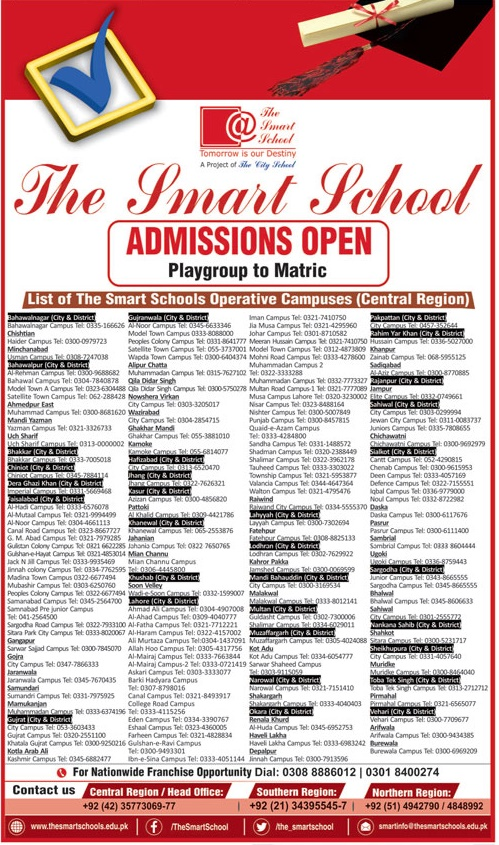 The Smart School Admission 2019 Form