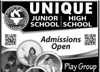 Unique Junior And High School Lahore Admission 2018 Contact Detail Fee Structure