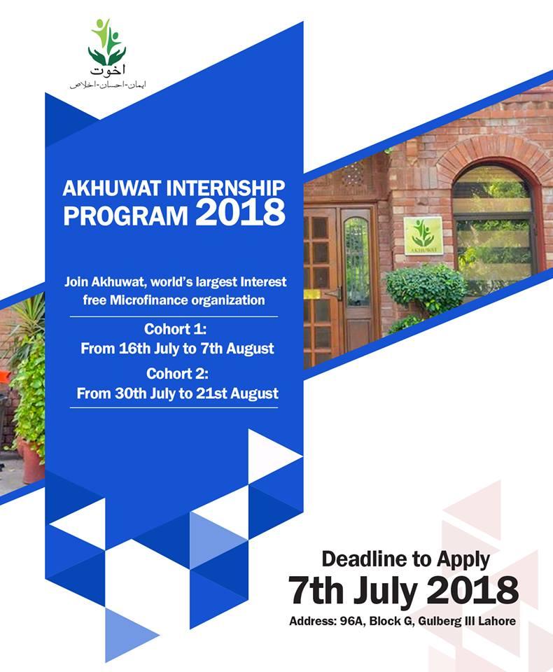 Akhuwat Internship 2018 www.akhuwat.org.pk Application Form Download