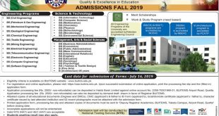 BUITEMS Admission Fall 2019