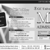 GC University Lahore MBA Admission 2019 Online Form Apply