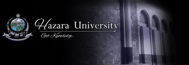 Hazara University MA / MSc Date Sheet 2018