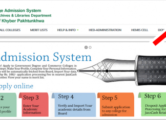 KPK Colleges Online Admission 2020 HED Government, Commerce Colleges