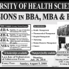 Dow University BBA, MBA Admission 2019
