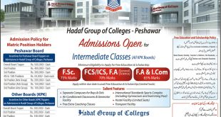 Hadaf Group of Colleges Peshawar Admission 2018