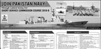 Join Pak Navy Through Short Service Commission 2018 B Online Registration Form