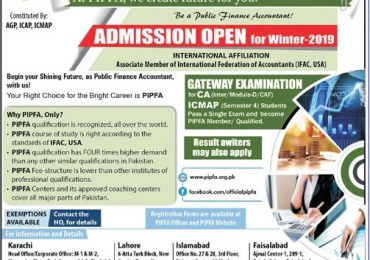 PIPFA Admission Form 2019 Winter Requirements