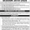 Punjab University PU Engineering Admission 2019