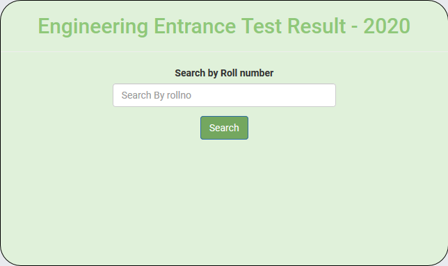ETEA Engineering Result 2020 By Name Roll No
