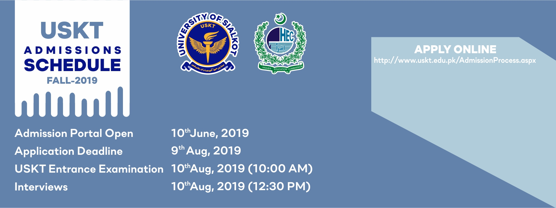 University of Sialkot Admission 2019 Form Apply Online