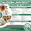 Ziauddin College of Nursing Admission 2019 Form Last Date