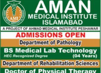 Aman Medical Institute Islamabad Admission 2018 Form