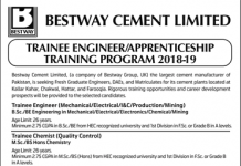 Bestway Cement Trainee Engineer, Apprenticeship 2018 Apply Online