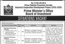 Prime Minister Office Board of Investment Jobs 2018 NTS Application Form
