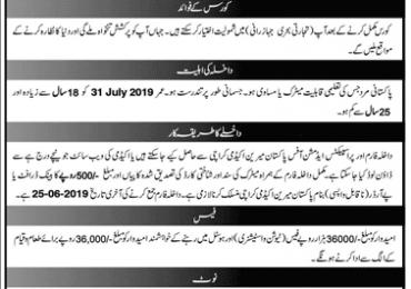 Pakistan Marine Academy GP 3 Course 2019 Admission Form 41st Batch