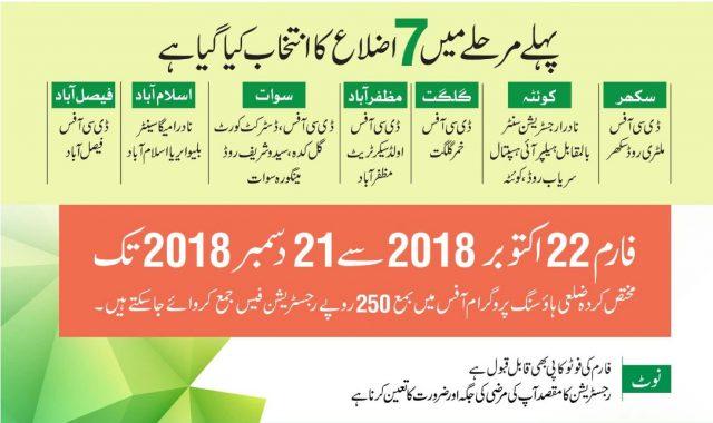naya Pakistan Housing Scheme Form advertisement