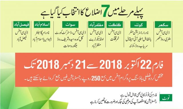 naya Pakistan Housing Scheme Form advertisement