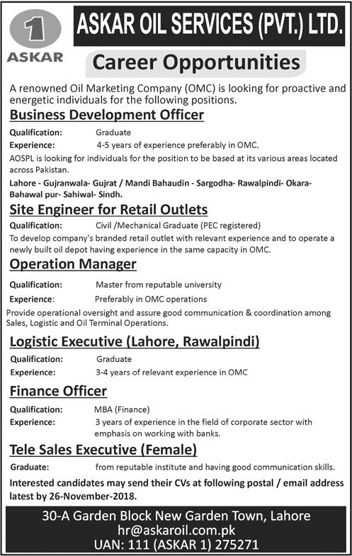 Askar Oil Services Jobs 2018
