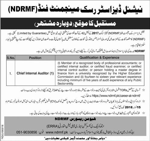 National Disaster Risk Management Fund NDRMF Jobs