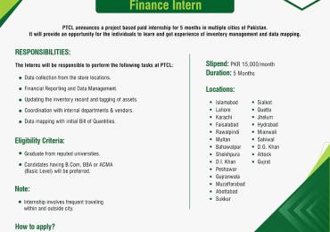 PTCL Internship 2019 Apply Online Form