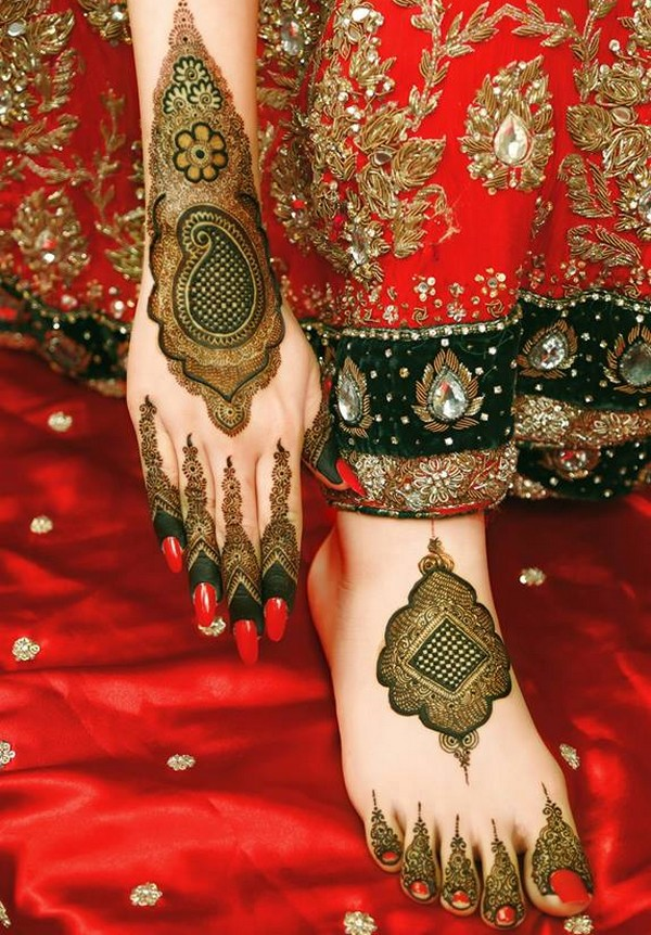 Pakistani Bridal Mehndi Design 2019