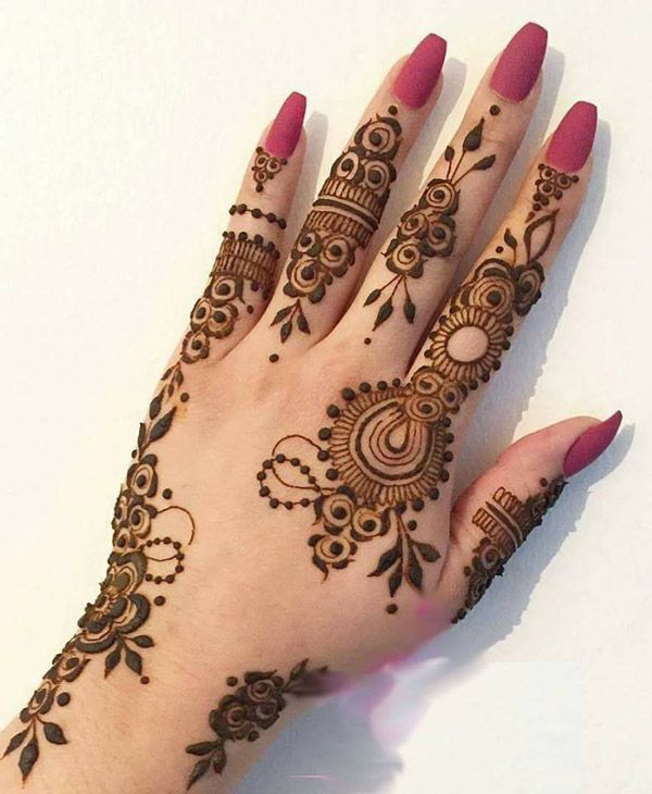 Pakistani Mehndi Design For Eid Moon