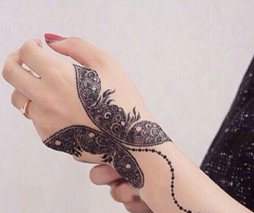 Pakistani Mehndi Designs Tattoos Butterfly