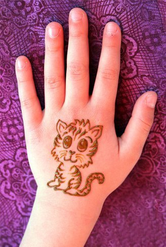 Pakistani Mehndi Designs Tattoos Cat