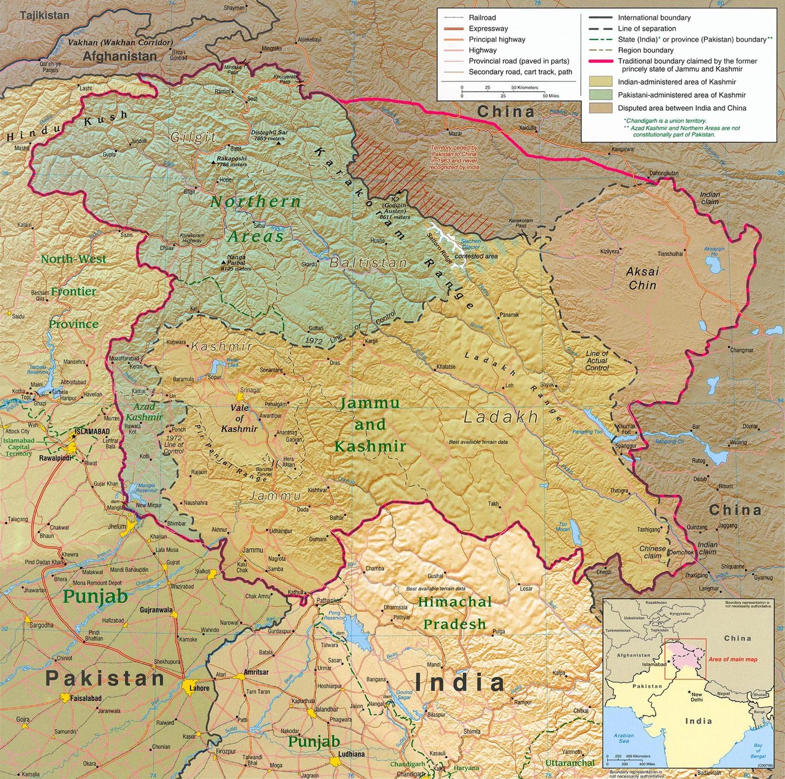 Azad Kashmir Map