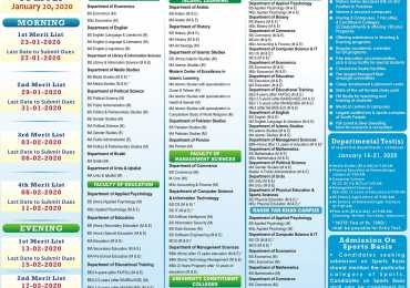 Islamia University of Bahawalpur IUB Spring Admission 2020 Form