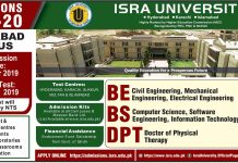Isra University Hyderabad Admission 2019-20 Form