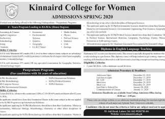 kinnaird college spring admissions 2020