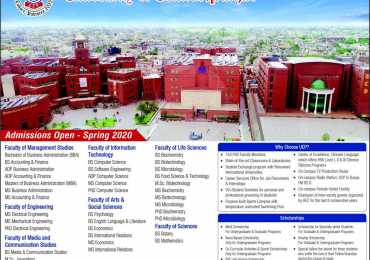 University of Central Punjab UCP Lahore Spring Admission 2020 Form