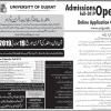 University of Gujrat UOG Admission 2019 Form