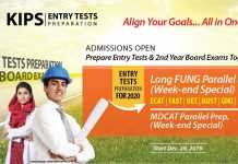 KIPS Entry Test Preparation 2020