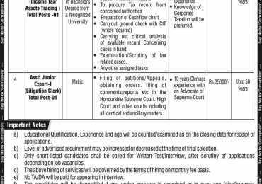 NAB Jobs 2020 National Accountability Bureau Application Form Last Date