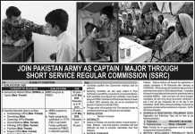 Join Pak Army As Captain, Major Through SSRC Commission 2020