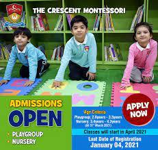 Crescent Model School Admission 2021